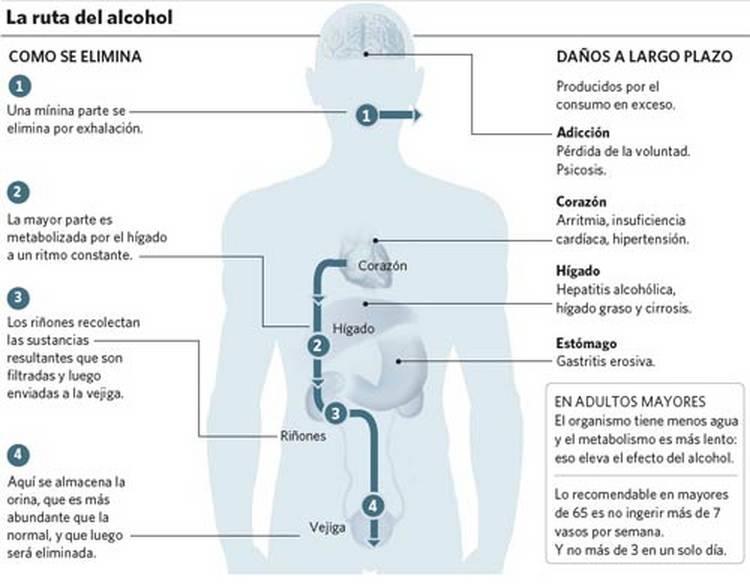 Las recomendaciones para a dejar beber